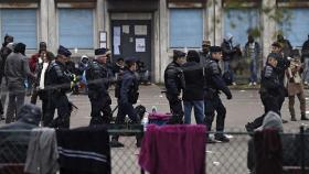 Expulsion des migrants du lycée Jean Quarré